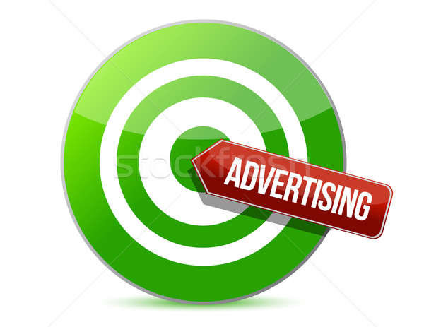 targeting advertising illustration design over a white backgroun Stock photo © alexmillos