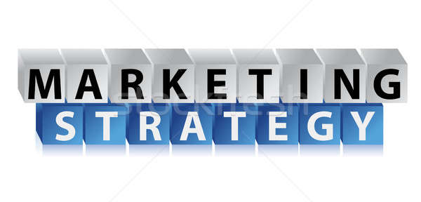 Marketing strategy illustration design over a white background Stock photo © alexmillos