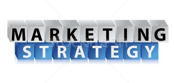 Estratégia de marketing ilustração projeto branco luz caixa Foto stock © alexmillos
