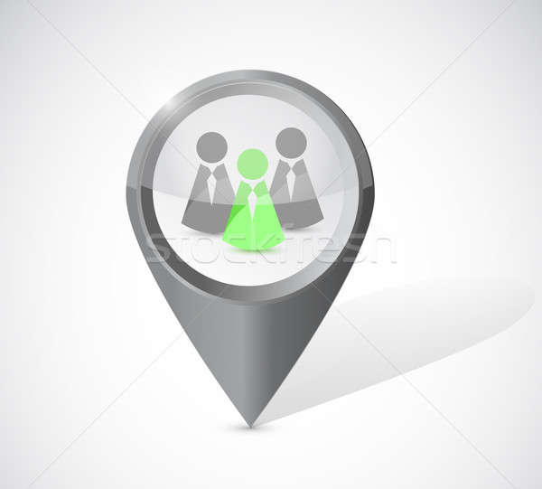 ideal candidate locator illustration design over a white backgro Stock photo © alexmillos