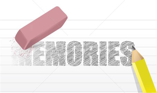 Emlékek illusztráció terv fehér iroda fa Stock fotó © alexmillos