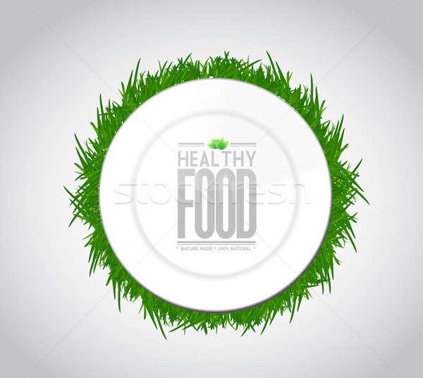 Gezonde voeding illustratie ontwerp grafiek witte Maakt een reservekopie Stockfoto © alexmillos