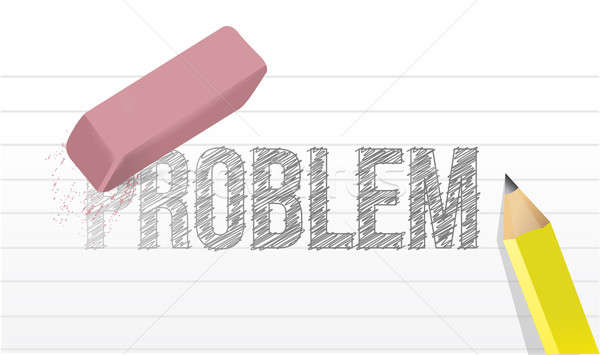 erase all problems concept illustration design over a white back Stock photo © alexmillos