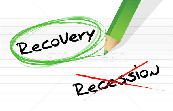 recession versus recovery selection illustration design over whi Stock photo © alexmillos