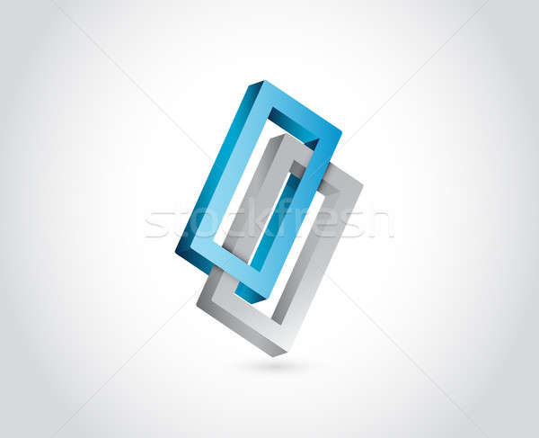 Infinite shape. business illustration design over a white backgr Stock photo © alexmillos