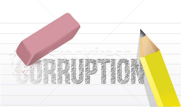 Korrupció illusztráció terv iroda iskola munka Stock fotó © alexmillos
