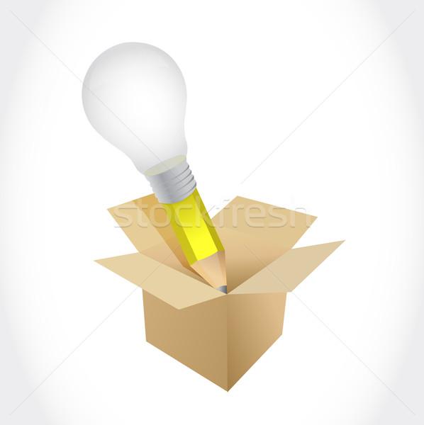 Idea pencil box illustration design Stock photo © alexmillos
