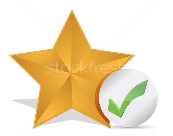 Star favoriet teken web icon steen knop Stockfoto © alexmillos
