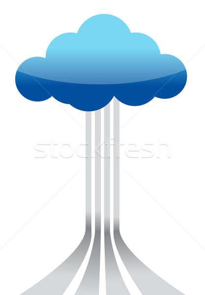 Cloud computing destinations concept Stock photo © alexmillos