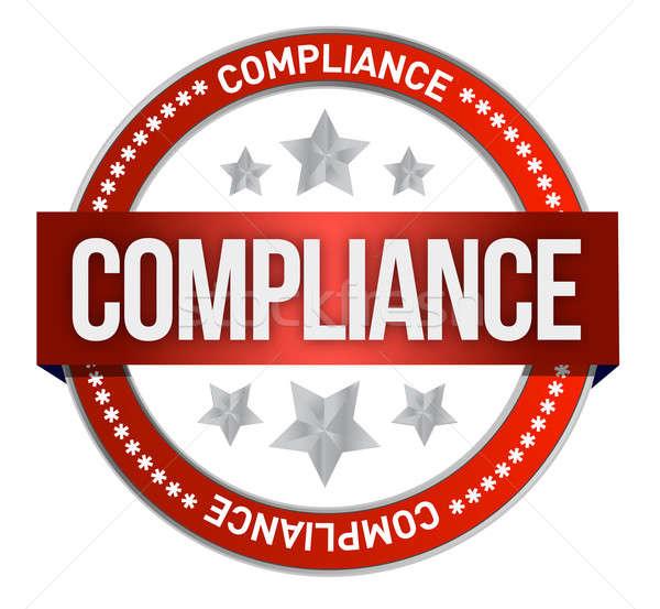 Compliance seal  Stock photo © alexmillos