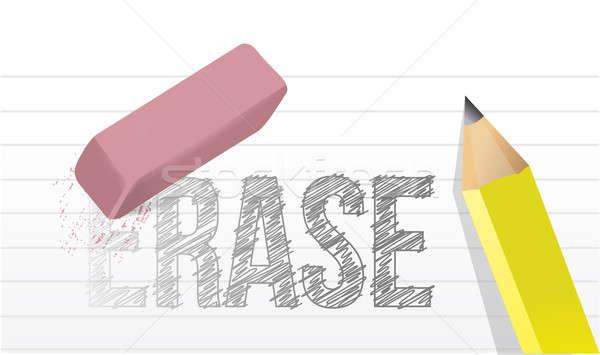 Erasing the word erase illustration design  Stock photo © alexmillos