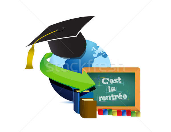 Back to school education in french Stock photo © alexmillos