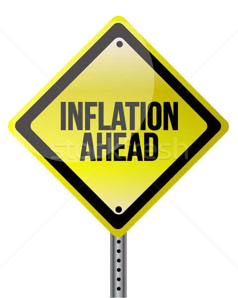 Inflation signe argent route autoroute Photo stock © alexmillos