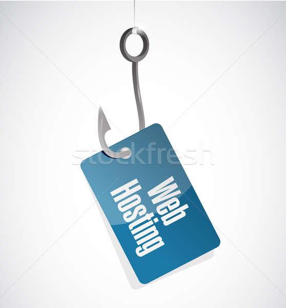 Web hosting hook sign concept illustration Stock photo © alexmillos