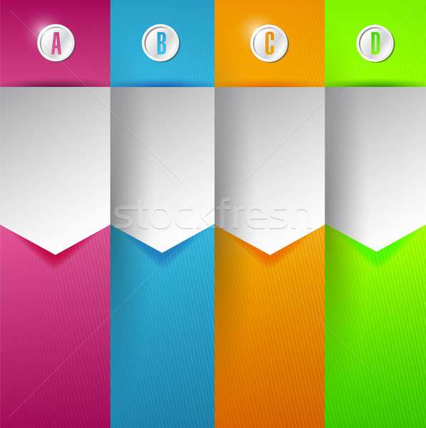 customizable colorful Banner Infographics Stock photo © alexmillos