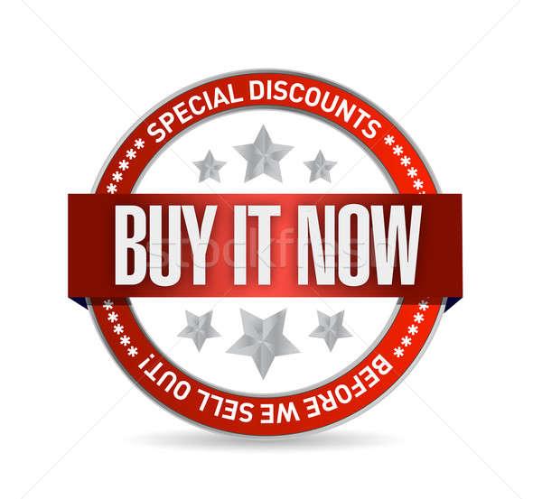 buy it now illustration design seal Stock photo © alexmillos