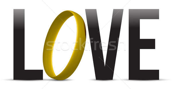 love sign sign illustration design over a white background desig Stock photo © alexmillos
