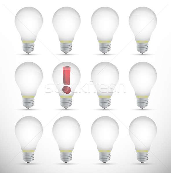 Pomysł projektu biały tle lampy społeczności Zdjęcia stock © alexmillos
