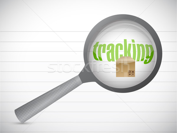tracking package concept illustration design over a white backgr Stock photo © alexmillos