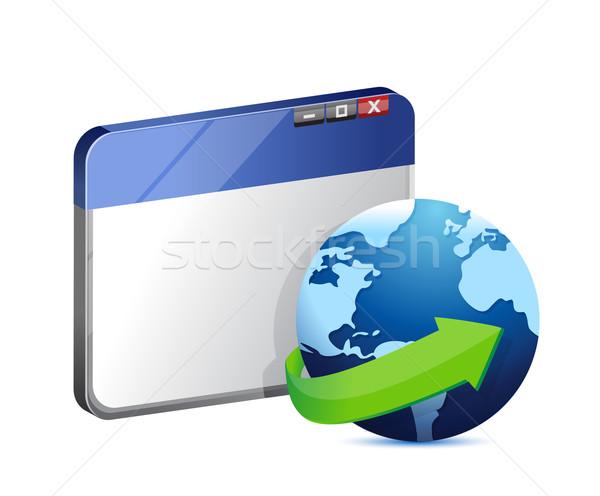 Internet navegador ilustración diseno blanco mano Foto stock © alexmillos