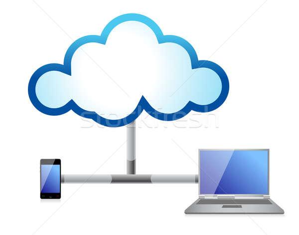 Negócio telefone internet comunicação nuvem Foto stock © alexmillos