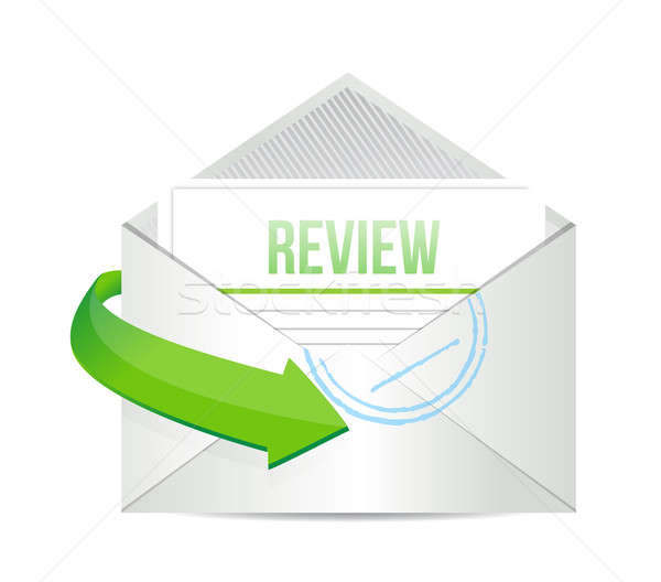 Review email information concept illustration  Stock photo © alexmillos