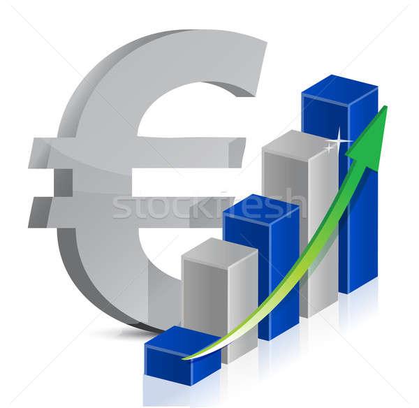 Stock fotó: Euro · valuta · ikon · stílus · illusztráció · hirdetés