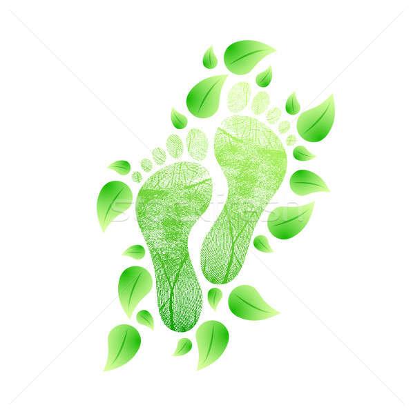 環境にやさしい フィート 自然 実例 自然 足 ストックフォト © alexmillos