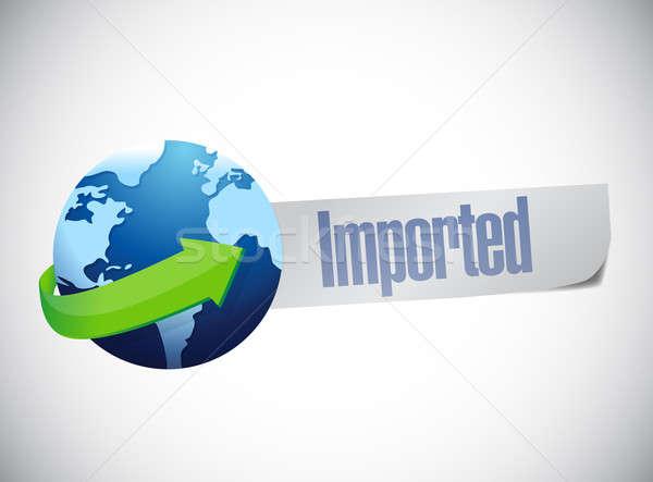 Import földgömb világtérkép illusztráció terv kék Stock fotó © alexmillos