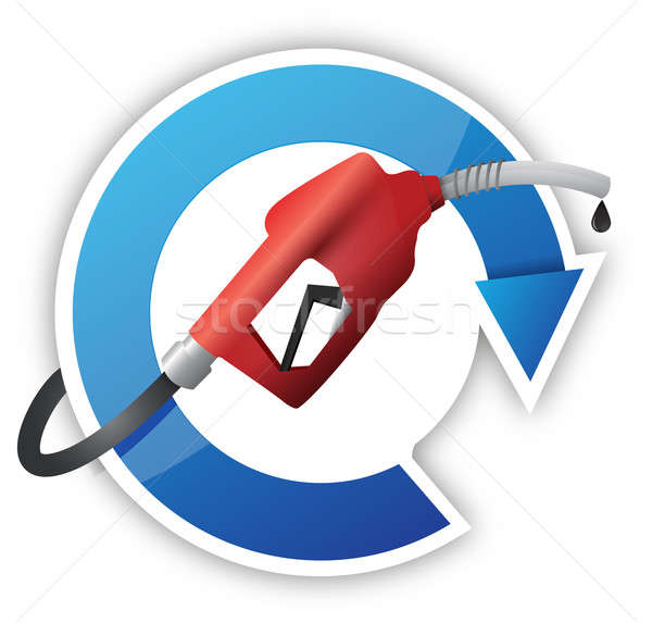 Rotating cycle with a gas pump nozzle Stock photo © alexmillos