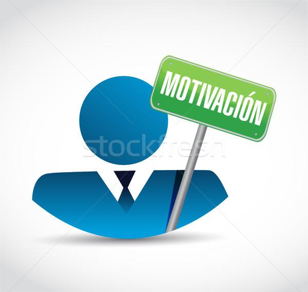 Motywacja działalności avatar podpisania hiszpanski ilustracja Zdjęcia stock © alexmillos