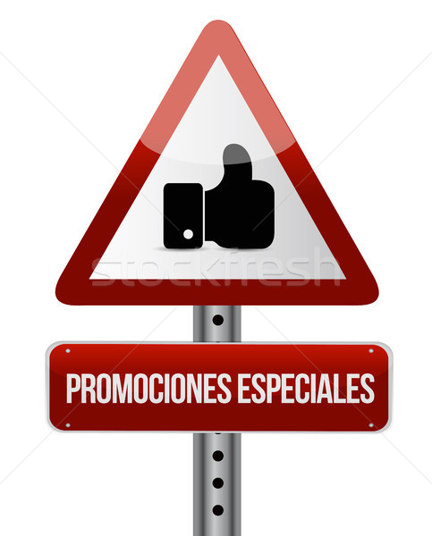special promotions in Spanish like sign concept Stock photo © alexmillos