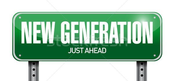 new generation road sign illustration design Stock photo © alexmillos