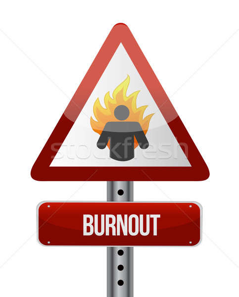 burnout road sign illustration design Stock photo © alexmillos