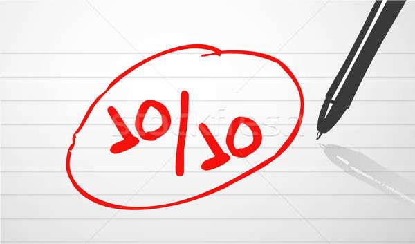 パーフェクト スコア 実例 デザイン 学校 ペン ストックフォト © alexmillos