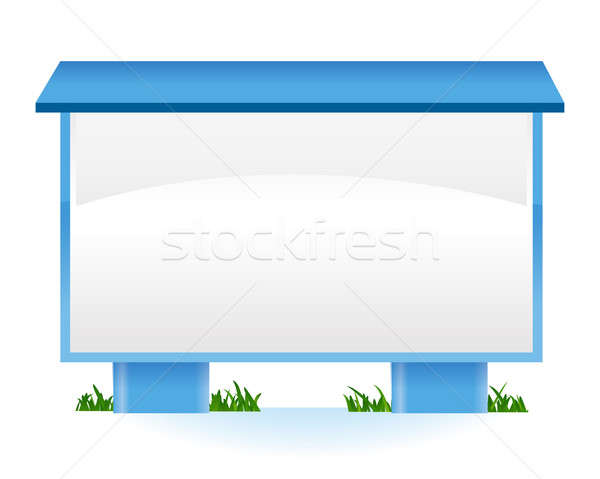 marketing outdoors stand illustration design over white Stock photo © alexmillos