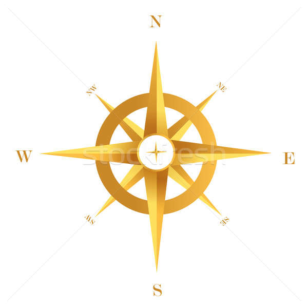 Gold compass Stock photo © alexmillos