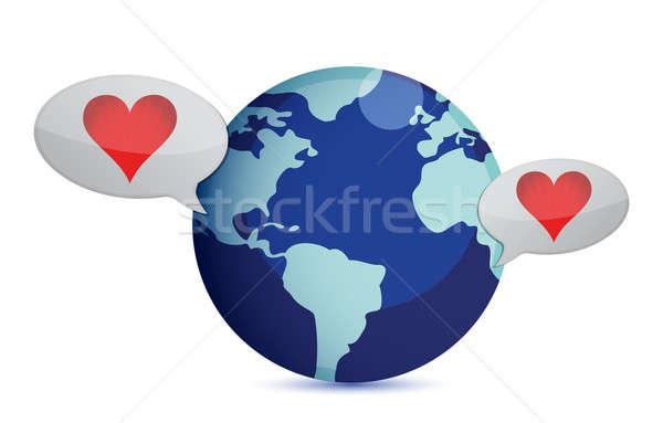 Lang afstand relatie illustratie ontwerp liefde Stockfoto © alexmillos