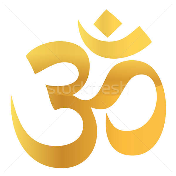 Gold Om Aum Symbol Stock photo © alexmillos