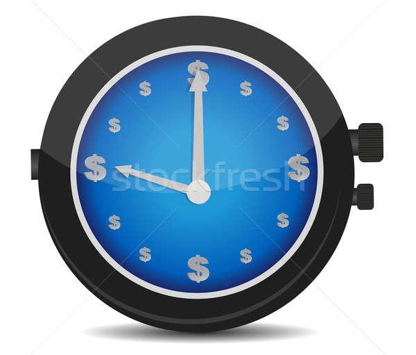 Guardare simbolo del dollaro comporre illustrazione design business Foto d'archivio © alexmillos