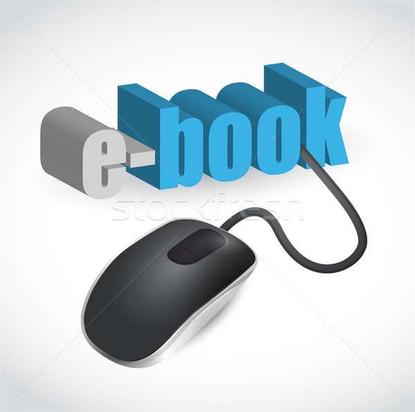 Ebook assinar mouse ilustração projeto branco Foto stock © alexmillos