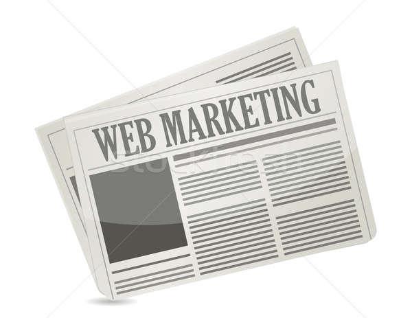 ウェブ マーケティング 新聞 実例 デザイン 白 ストックフォト © alexmillos