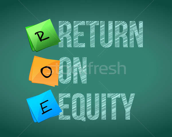 financial Return on equity written illustration design on a blac Stock photo © alexmillos