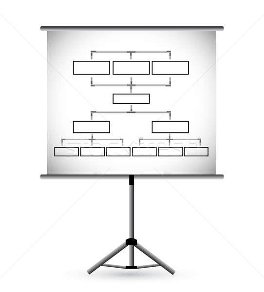 Flipchart in classroom illustration design over a white backgrou Stock photo © alexmillos