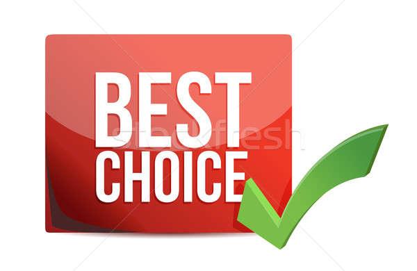 Legjobb választás csekk osztályzat illusztráció háttér bolt Stock fotó © alexmillos