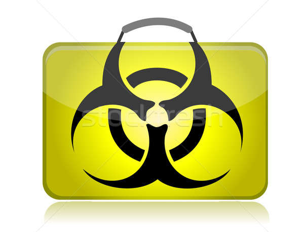 Dangerous biohazard suitcase yellow illustration  Stock photo © alexmillos