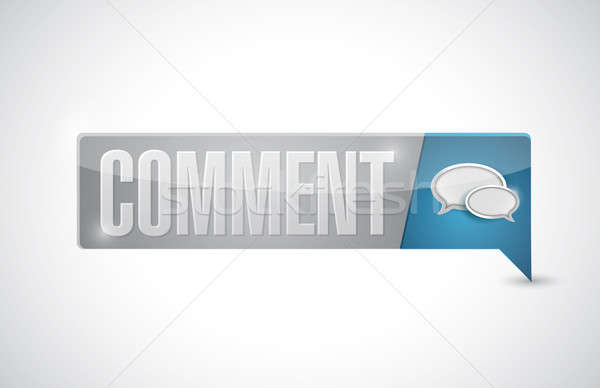 Commenter bouton illustration design blanche papier Photo stock © alexmillos