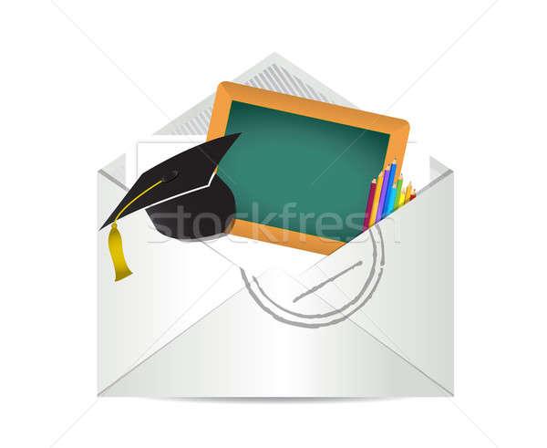 Education grades review letter illustration  Stock photo © alexmillos
