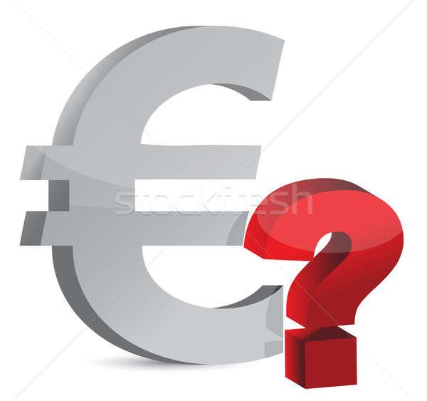 Stockfoto: Valuta · vraagteken · illustratie · ontwerp · witte · geld