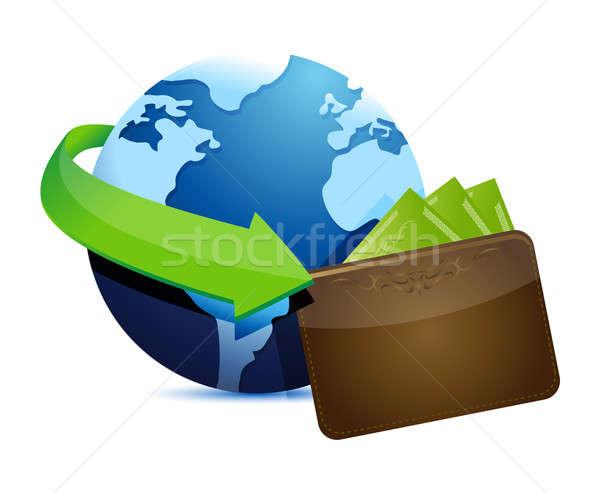 Globe wallet  Stock photo © alexmillos